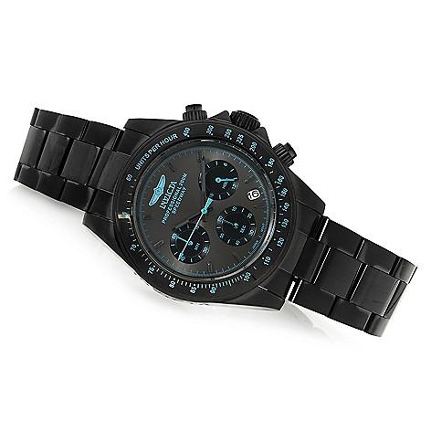 40d05b24b 665-602- Invicta 40mm Speedway Quartz Chronograph Black Dial Stainless Steel  Bracelet Watch