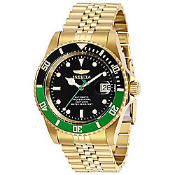 Invicta 42mm Pro Diver Automatic Date Gold-tone Stainless Steel Bracelet Watch