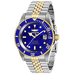 Invicta 42mm Pro Diver Automatic Date Blue Dial Two-tone Stainless Steel Bracelet Watch