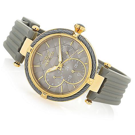 invicta women s bolt quartz day date grey polyurethane strap watch