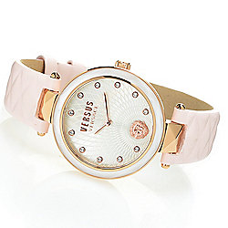 2125af41c58 Image of product 666-023. QUICKVIEW. Versus Versace Women s Covent Garden Quartz  Leather Strap Watch Made ...