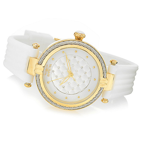 a4fd00438 666-340- Invicta Women's Bolt Quartz Mother-of-Pearl Crystal Accented Dial