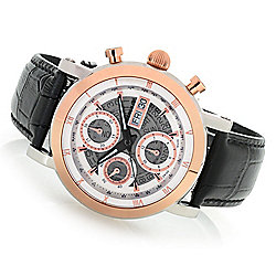 ef72dda0e3f Image of product 666-351. QUICKVIEW. Thomas Earnshaw Men s 43mm Longcase  Ltd Edition Swiss Made Automatic Chronograph Leather Strap Watch
