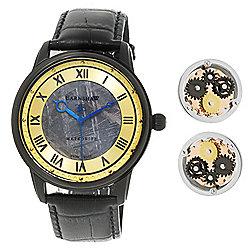 53cb4500fb4 Image of product 666-352. QUICKVIEW. Thomas Earnshaw Men s 43mm Longitude  Ltd Ed Swiss Made Quartz Meteorite Strap Watch ...