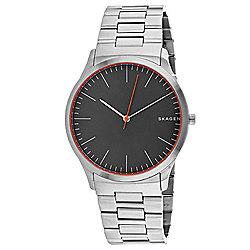 10302cdf4 Skagen Men's 40mm Jorn Quartz Grey Dial Silver-tone Bezel Stainless Steel  Bracelet Watch