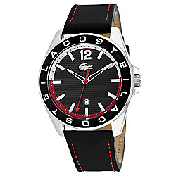 Lacoste Men s 43mm Westport Quartz Black Leather Strap Watch b6f416ce93c