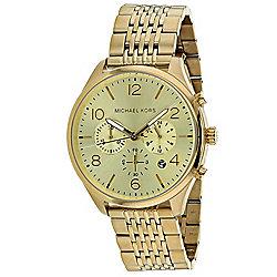 068b5661bf55 Michael Kors Men s 42mm Merrick Quartz Gold-tone Stainless Steel Bracelet  Watch