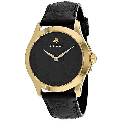 60af6db98d6 Gucci Men s 38mm G-Timeless Swiss Quartz Gold-tone Bezel Black ...