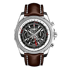 9a82a4042c2 Breitling For Bentley Men s 49mm B04 GMT Swiss Made Automatic Chronograph  Brown Strap Watch