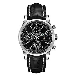 Breitling Men's 43mm Transocean Swiss Made Automatic Perpetual Calendar Black Crocodile Strap Watch