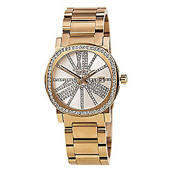 Wittnauer Women's Adele Quartz Crystal Accented Rose-tone Stainless Steel Bracelet Watch