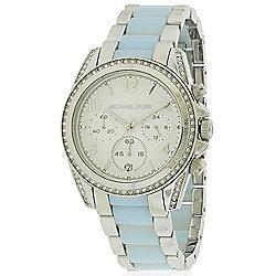 3064ce00ff73 Michael Kors Women s Blair Quartz Crystal Accented Bezel Two-tone Stainless  Steel Bracelet Watch
