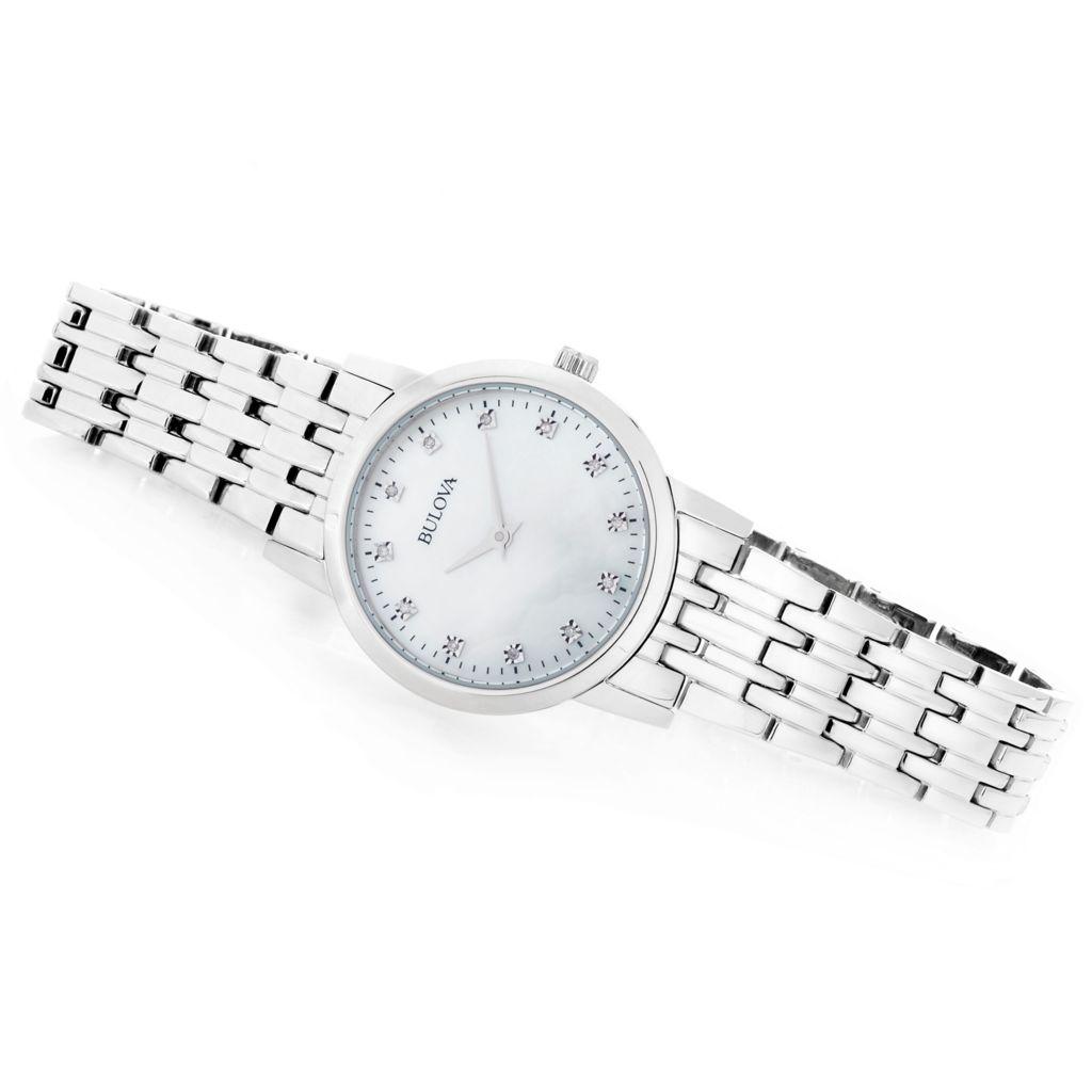 Bulova Women's Diamond Accented Mother-of-Pearl Bracelet Watch - 667-887