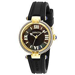 c2aa7a11a7f Invicta Women s Bolt Quartz Mother-of-Pearl Dial Black Silicone Strap Watch