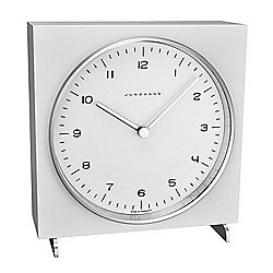 Junghans 147mm Max Bill Quartz White Dial Table Clock