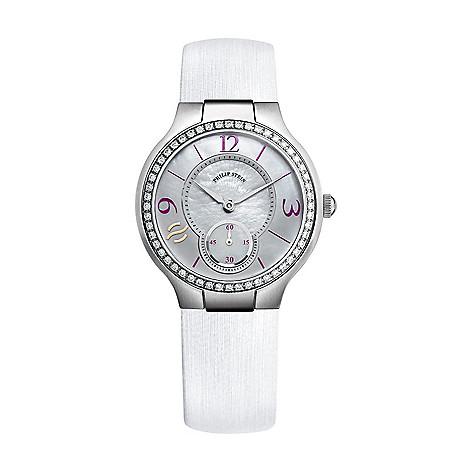 1aa8e3aedef Philip Stein Women s Classic Quartz 0.73ctw Diamond Mother-of-Pearl ...