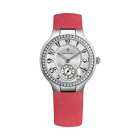 15a2466900a 668-507- Philip Stein Women s Classic Quartz 0.78ctw Diamond Pink Leather  Strap Watch