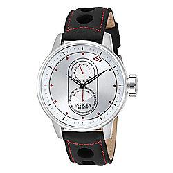 76422d24599 Invicta Men s 48mm S1 Rally Quartz GMT Leather Strap Watch