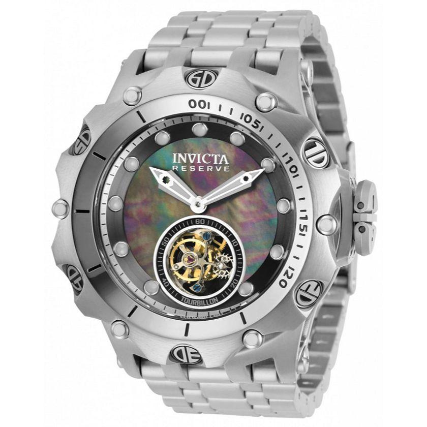 669-285 Invicta Reserve Men's 52mm Venom Hybrid Mechanical Tourbillon Bracelet Watch