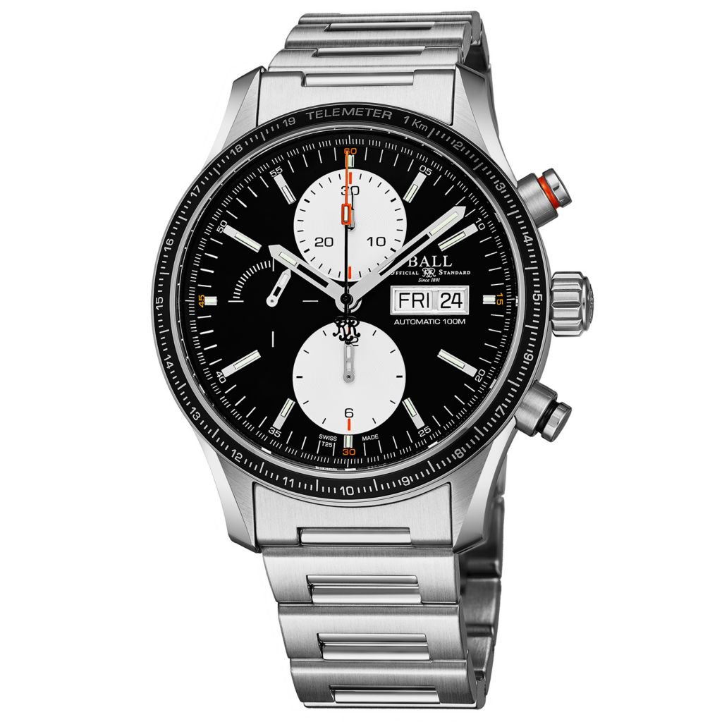 Ball Men's 42mm Fireman Storm Chaser Pro Swiss Made Automatic Chronograph  Black Dial Bracelet Watch
