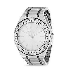 14bb5169304 Steve Madden Men s 49mm Quartz Striped Silver-tone Alloy Bracelet Watch