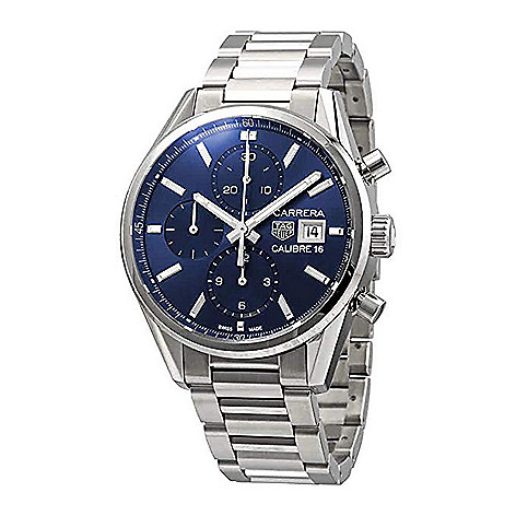 Tag Carrera Watch >> Tag Heuer Men S 41mm Carrera Swiss Made Automatic Chronograph Stainless Steel Bracelet Watch