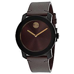 663eb7780f23 Movado Men s 42mm Bold Quartz Leather Strap Watch