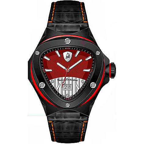 Tonino Lamborghini Men S 54mm Spyder Swiss Made Quartz Date Red