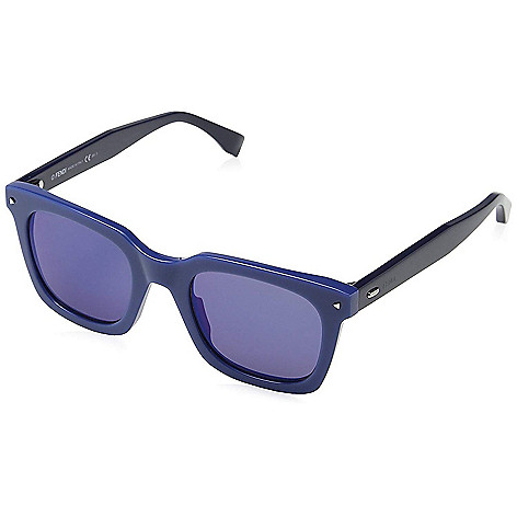 9fec80c94fb9a 670-135- Fendi Unisex 49mm Blue Sky Square Frame Sunglasses w  Case