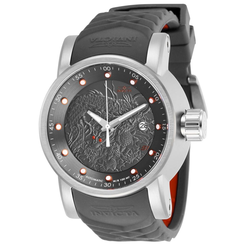 Invicta Men's 48mm S1 Rally Automatic Date Silicone Strap Watch