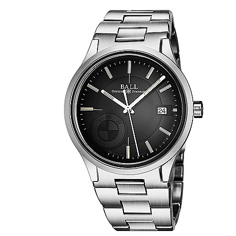 3b71ee3d2 670-174- Ball Men's 40mm BMW Classic Swiss Made Automatic Date Black Dial  Stainless