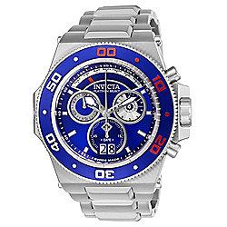 552cd22cf36a Invicta Men s 56mm Akula Quartz Chronograph Stainless Steel Bracelet Watch