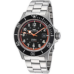 Glycine Men's 42mm Combat Sub Swiss Made Automatic Date Stainless Steel Bracelet Watch