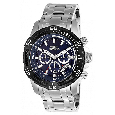 Invicta_Mens_50mm Pro_Diver_Scuba Quartz_Chronograph Bracelet_Watch_w 8Slot_Dive_Case