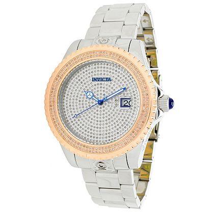 Invicta Breakdown at ShopHQ | 671-624 Invicta 47mm Grand Diver 3 Ltd Ed Auto 15th Anniv. 2.67ctw Diamond Bracelet Watch