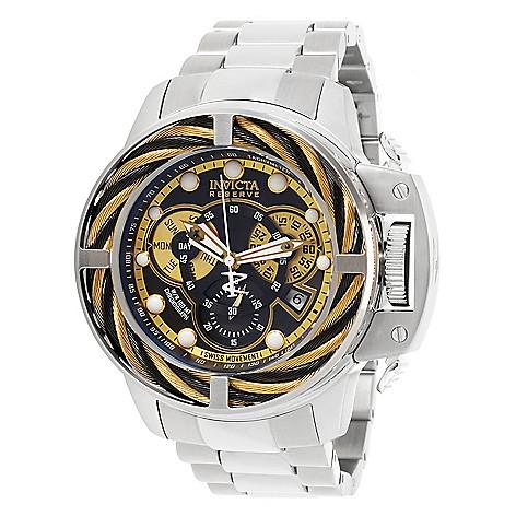 Invicta Reserve Men's, 50mm Coalition, Bolt Hybrid Swiss, Quartz  Chronograph Date, Bracelet Watch