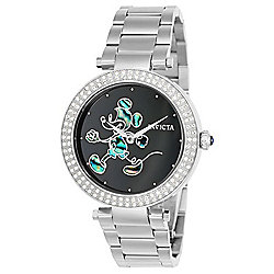 Invicta Disney® 38mm Quartz Limited Edition Crystal Accented Abalone Dial Bracelet Watch