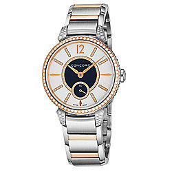 Concord Women's Impressario Swiss Made Quartz Diamond Accented Two-tone Mother-of-Pearl Dial Watch
