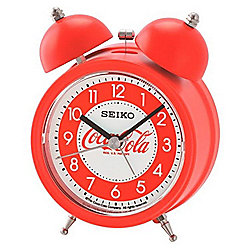 Seiko Red Coca Cola Alarm Clock w/ Snooze & Light Functions