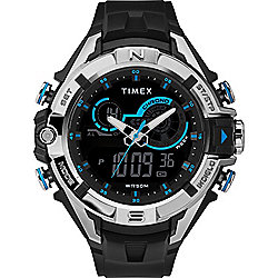 Timex Men's 50mm The Guard DGTL Quartz Analogue & Digital Display Blue & Black Resin Strap Watch