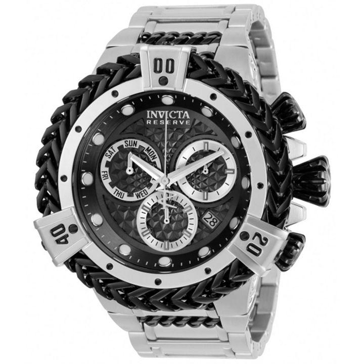 Invicta Bolt at ShopHQ - 672-226 Invicta Reserve Men's 52mm Bolt Hercules Swiss Quartz Chronograph Bracelet Watch