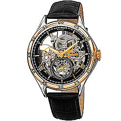 b8e9b2cb0 Image of product 672-342. QUICKVIEW. Akribos XXIV Men's 40mm Automatic  Skeletonized Leather Strap Watch