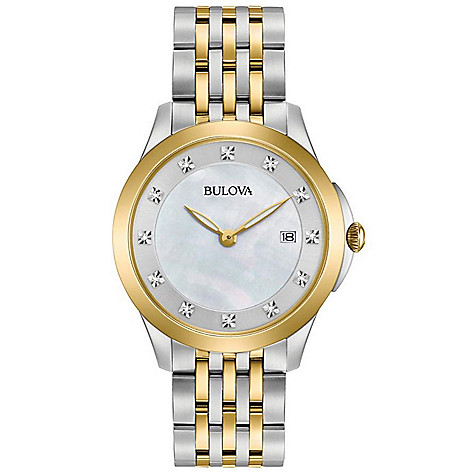 Bulova_Womens_Quartz_Diamond_Accented_White_MotherofPearl_Dial_Stainless_Steel_Bracelet_Watch