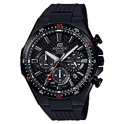 Casio Men's 50mm Edifice EQS800 Series Solar Power Chrono Polyurethane Strap Watch