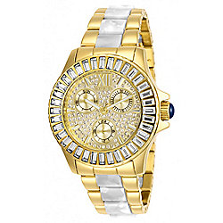 Invicta Women's Angel Quartz Multi Function Crystal Accented Bracelet Watch