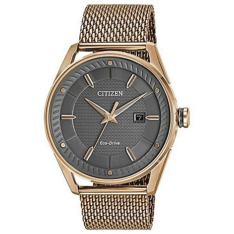 Citizen Men's_42mm Eco-Drive Bracelet_Watch w__Date_Window