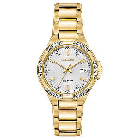 Citizen Women's_30mm Eco-Drive_Riva Diamond_Accented Bracelet_Watch