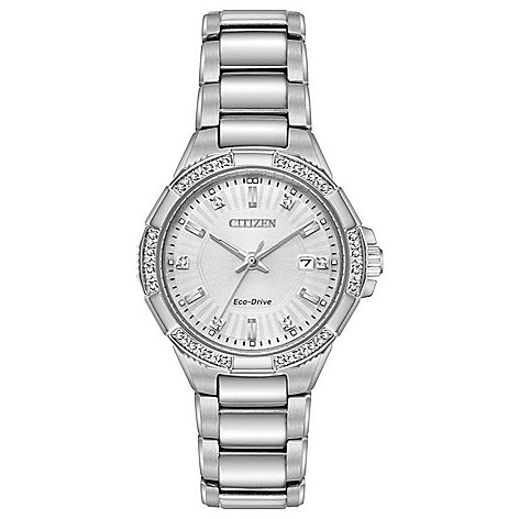 Citizen Women's_30mm Eco-Drive_Riva Diamond_Accented Bracelet_Watch