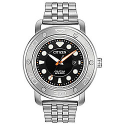 Citizen Men's 46mm Eco-Drive Stainless Steel Bracelet Watch w/ Interchangeable Polyurethane Strap