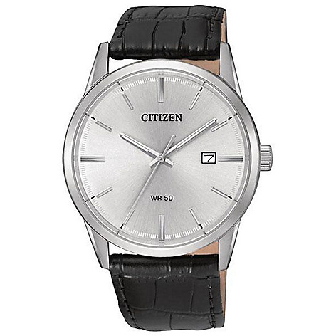 Citizen_Men's_39mm_Quartz_Date_Window_Leather_Strap_Watch